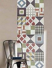 Wandaufkleber Sintra Muster Fliesen Portugiesische Dekoration Ideen für Haus Renovierung (Packung mit 36) (20 x 20 cm)