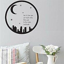 wandaufkleber spruch disney Mond, aber ich liebe