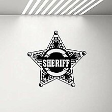 Wandaufkleber Star law sheriff abzeichen polizei