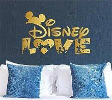 wandaufkleber sterne Disney Love für Schlafzimmer