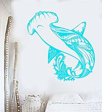 wandaufkleber sterne Hai Marine Fish Predator Sea