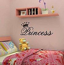Wandaufkleber Stickermodernen Stil Prinzessin