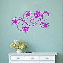 Wandaufkleber Tapete Flower Lovely Floral Design