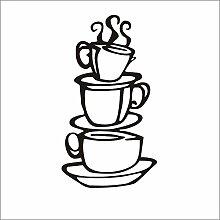 Wandaufkleber tapete kaffeetasse küche dekoration