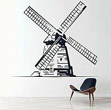 Wandaufkleber Tapete Windmühle Aufkleber kreative