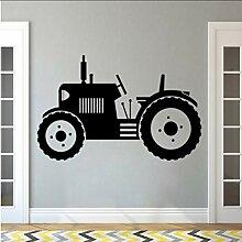 Wandaufkleber TraktorGroße Reifen Farmer