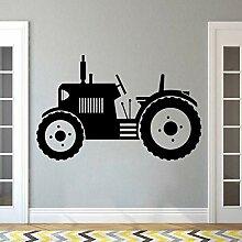 Wandaufkleber Traktor Große Reifen Landwirt