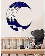 Wandaufkleber und Wandbilder Mond Vinyl Wandkunst