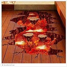 wandaufkleber Visuelle Wirkung Dekorative Boden