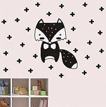 Wandaufkleber Wandtattoo Fox Cross Cartoon Tier