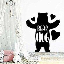 Wandaufkleber Wandtattoos Bear Hug Selbstklebende