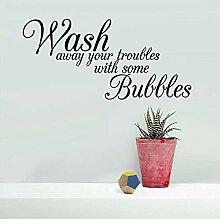 Wandaufkleber Wash Englisch Slogan Wandaufkleber