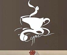 Wandaufkleber, Weihnachtsaufkleber, Beauty Coffee