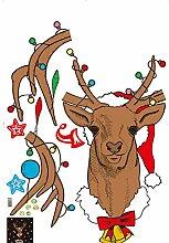 Wandaufkleber, Weihnachtsaufkleber, Frohe