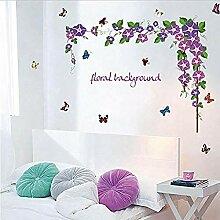 Wandaufkleber Weinstock Blume abnehmbare