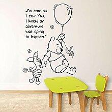 wandaufkleber Winnie The Pooh Freundschaft Zitat