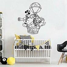 wandaufkleber Winnie The Pooh Heißluftballon Für