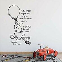wandaufkleber Winnie The Pooh Heißluftballow