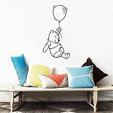 wandaufkleber Winnie The Pooh Mit Ballon Zitat
