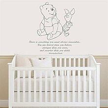 wandaufkleber Winnie the Pooh-Zitat für