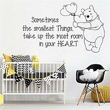 wandaufkleber Winnie the Pooh Zitat für