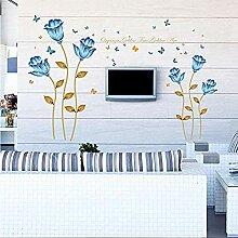 Wandaufkleber Zitat Blume Hintergrund Wohnzimmer