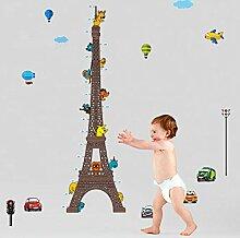 Wandaufkleber ZOZOSO Eiffelturm Höhe Aufkleber