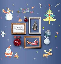 Wandaufkleber ZOZOSO Frohe Weihnachten