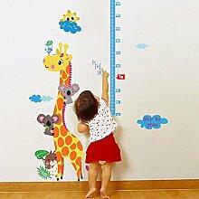 Wandaufkleber ZOZOSO Giraffe Höhe Aufkleber