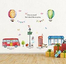 Wandaufkleber ZOZOSO Heißluftballon Kinderzimmer