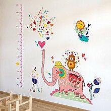 Wandaufkleber ZOZOSO Pink Elephant Cartoon