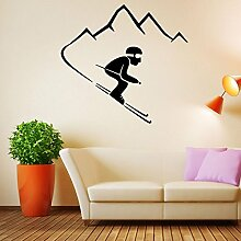 Wandaufkleber ZOZOSO Skifahrer Kinderzimmer