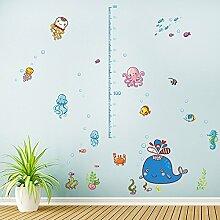 Wandaufkleber ZOZOSO Unterwasserwelt Höhe