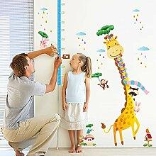 Wandaufkleber ZOZOSO Wandaufkleber Giraffe Höhe