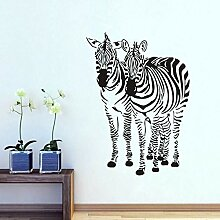 Wandaufkleber Zwei Zebra Wandkunst Aufkleber Für