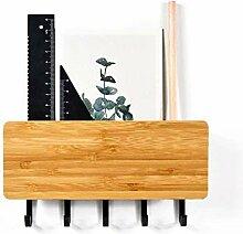 Wandbehang Bambus Schlüsselanhänger Halter