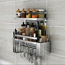 Wandbehang Küche Utensil Schiene Sets Edelstahl