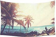 Wandbehang / Wandteppich, tropische Palme,