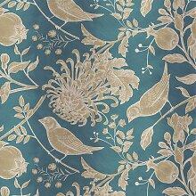 Wandbekleidung mit Blumen- & Vögel-Motiven von