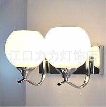 Wandbeleuchtung,Einfache, moderne Glas Bett