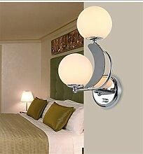 Wandbeleuchtung kreative Wandleuchte mit Schalter Wandleuchten am Bett Schlafzimmer einfache und moderne Wohnzimmer Balkon lampe Treppenhaus Flur Wandleuchte