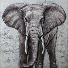 Wandbild 3D Elefant World Menagerie