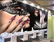 Wandbild 3D Foto Wallpaper Beauty Salon Maniküre