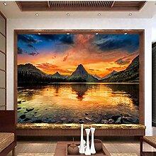 Wandbild 3D Fototapete Berge Sonnenaufgänge und