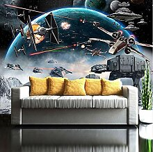 Wandbild 3D Fototapete Cartoon Star Wars