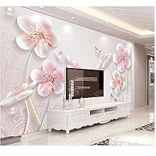 Wandbild 3D Relief Pflaumenblüte Blume Tapete
