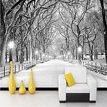 Wandbild, 3D, Schöne Schneewaldlandschaft