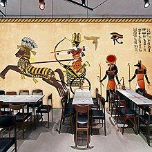 Wandbild 3D Tapete Retro Ägypten Charakter Cooles
