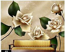 Wandbild 3D Wandbild Rose Blume Wandbild Tapete