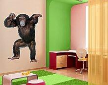 Wandbild Aufkleber No. 291Fröhlicher Affe 70x